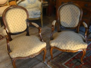 fauteuils tapissés